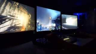 battlefield 4 triple monitor gaming setup eyefinity radeon 7970 hd