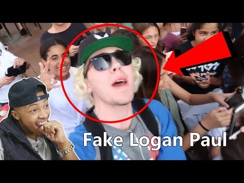 Logan Paul Look a Like Challenge in Public (IT WORKED) Reaction