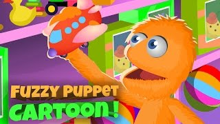 Fuzzy Puppet Cartoons For Kids Episode #1 Car Funny Cartoon and Animation Learn Colors