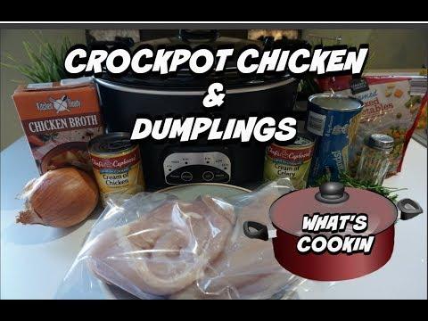 CROCKPOT CHICKEN & DUMPLINGS RECIPE | YUMMY COMFORT FOOD