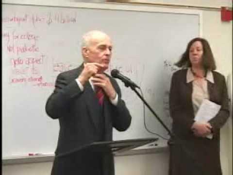 Woodbury College, Bugliosi speech