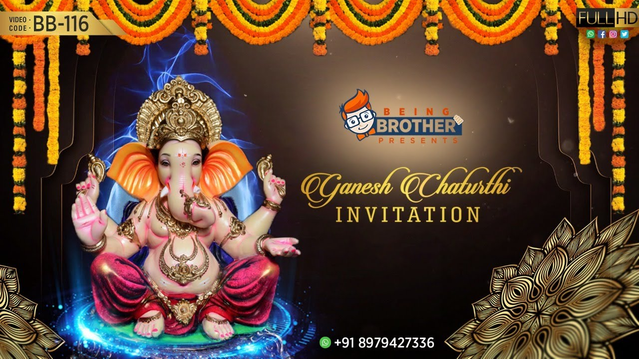 Ganesh Chaturthi Invitation Video Bb 116