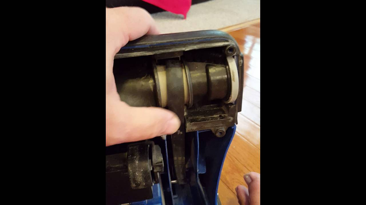 Replacing belt on Bissell PowerForce upright vacuum - YouTube