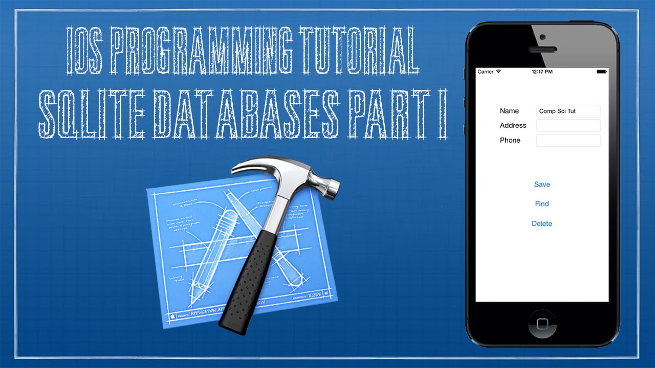 Tutorial on creating an ios sqlite database application for ios.