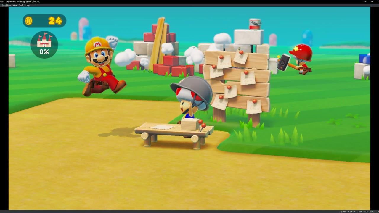 yuzu Patreon 7/2/19 | Super Mario Maker 2 Gameplay