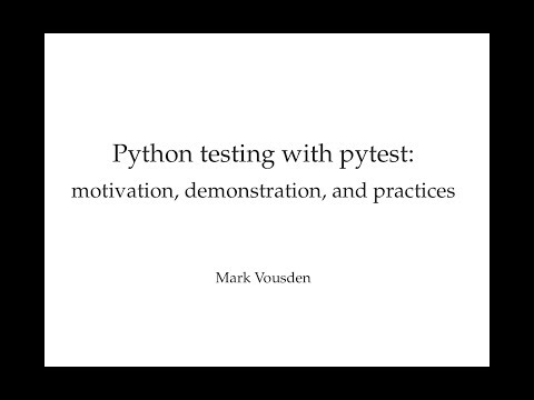 Python testing with pytest! Part 2: Pytest examples