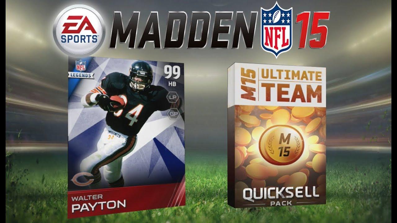 Madden 15 ultimate team walter payton amazing super bowl legend pack opening mut 15 youtube - Walter payton madden 15 ...
