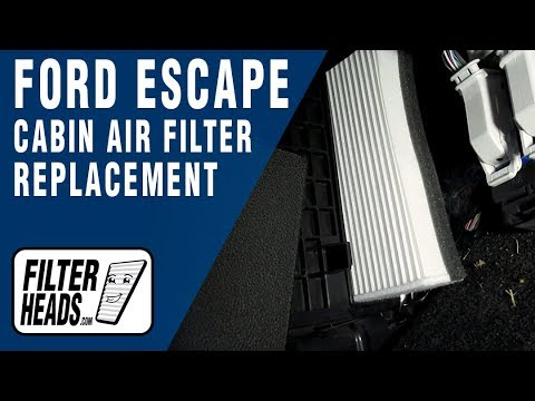 How To Replace Cabin Air Filter 2016 Ford Escape Youtube