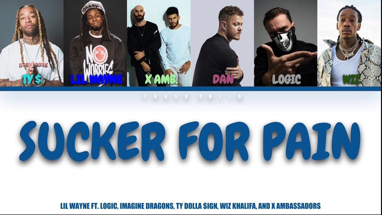 Download Lil Wayne - Sucker for Pain ft. Ty $, Imagine dragons, Logic, Wiz, X. Amb. (Colour-coded Lyrics)