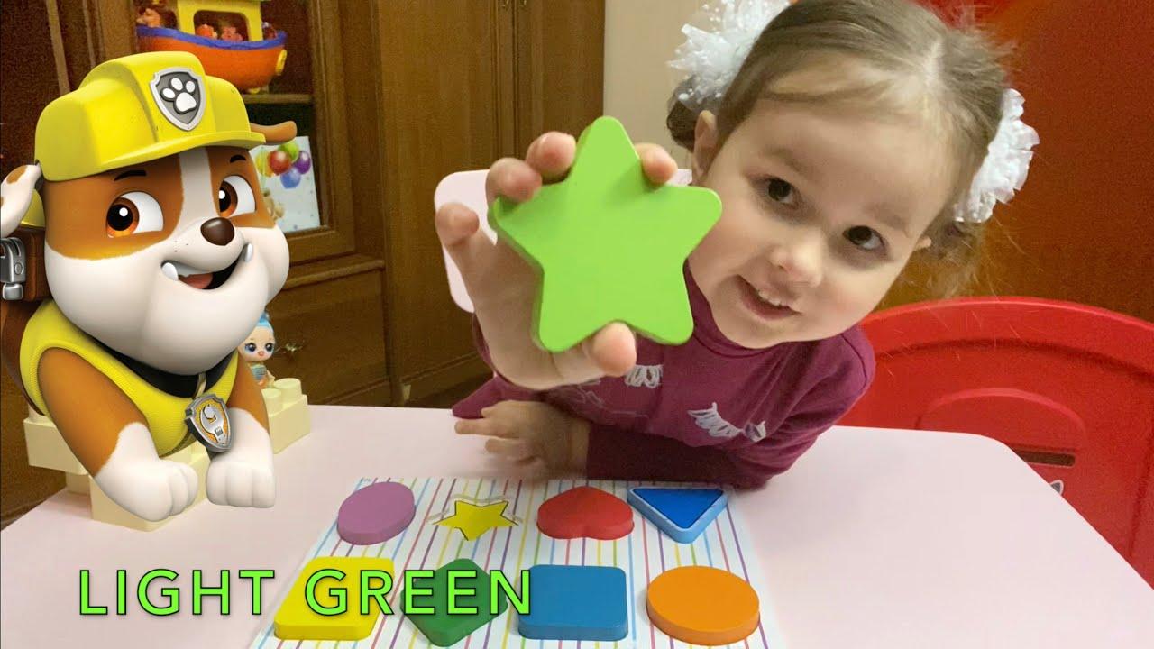 Фигуры для детей на английском языке Фигуры и цвета для ...