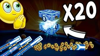 8 Ball Pool - NO WAY!! Opening 20 Legendary Boxes | 25K Subs Special! [No Hack/Cheat]
