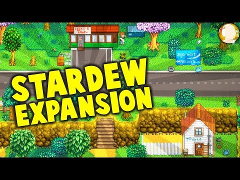 Stardew Valley EXPANSION Mod! New Locations and Characters - Diner, Gas Station, and a WINERY!