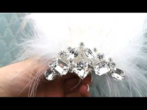 1920s Inspired Feather & Rhinestone Hair Clip by Hair Comes the Bride