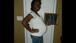 33 Weeks Pregnant (Baby #3)