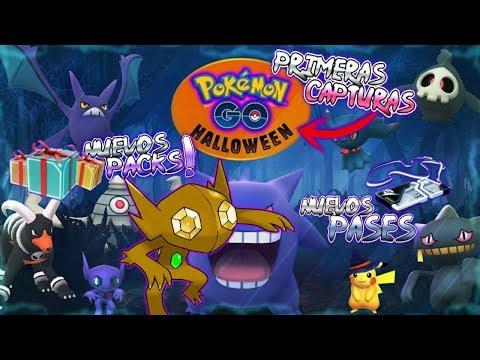 MIS PRIMERAS CAPTURAS de HALLOWEEN & CAPTURA de SABLEYE SHINY!!! - Pokemon Go