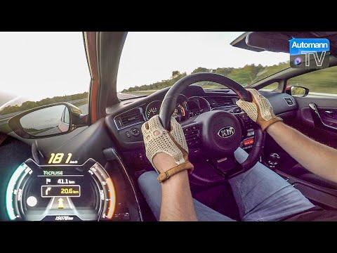 2017 KIA Cee'd GT (204hp) - 0-200 Km/h Acceleration (60FPS)