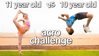 BOY vs GIRL Acro Gymnastics Challenge (DON'T Ship Them 😂)