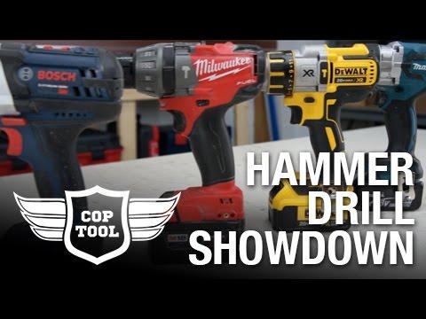 2017 Brushless 18v Hammer Drill Showdown Dewalt Vs Makita Milwaukee Bosch