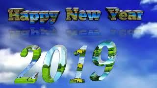 Happy New Year 2019 HD Green screen