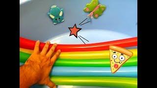Изучаем цвета с ребенком Обучающее познавательное видео Учимся с детьми дома Найди цвета Цветные шар