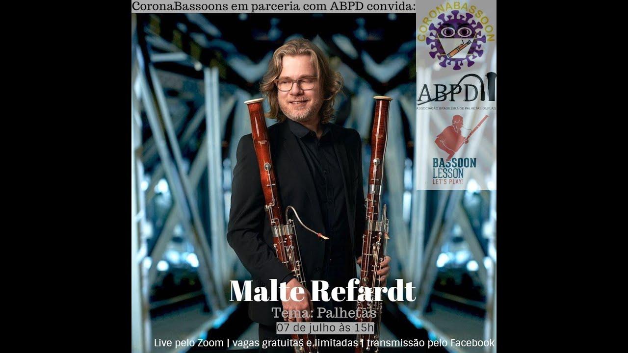 Live com o professor Malte Refardt - Tema: Palhetas