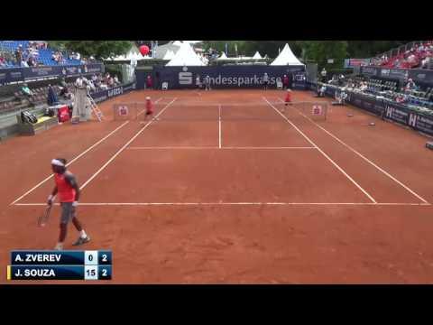 Alexander Zverev (GER) v Joao Souza (BRA) -  Braunschweig Challenger 2014 cut