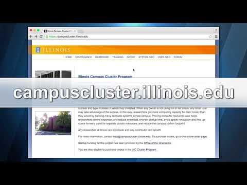 Illinois Campus Cluster HPC Videos  - Lesson 1
