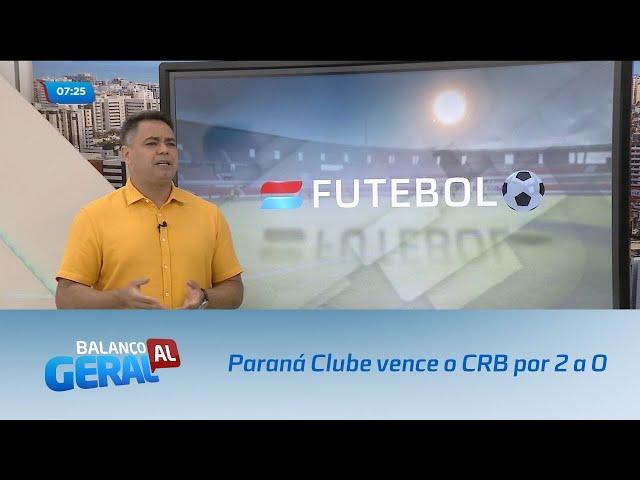 Futebol: Paraná Clube vence o CRB por 2 a 0
