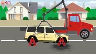 Строительные машины для детей Обучение Транспортные средства Названия Грузовик, Экскаватор, Самосвал