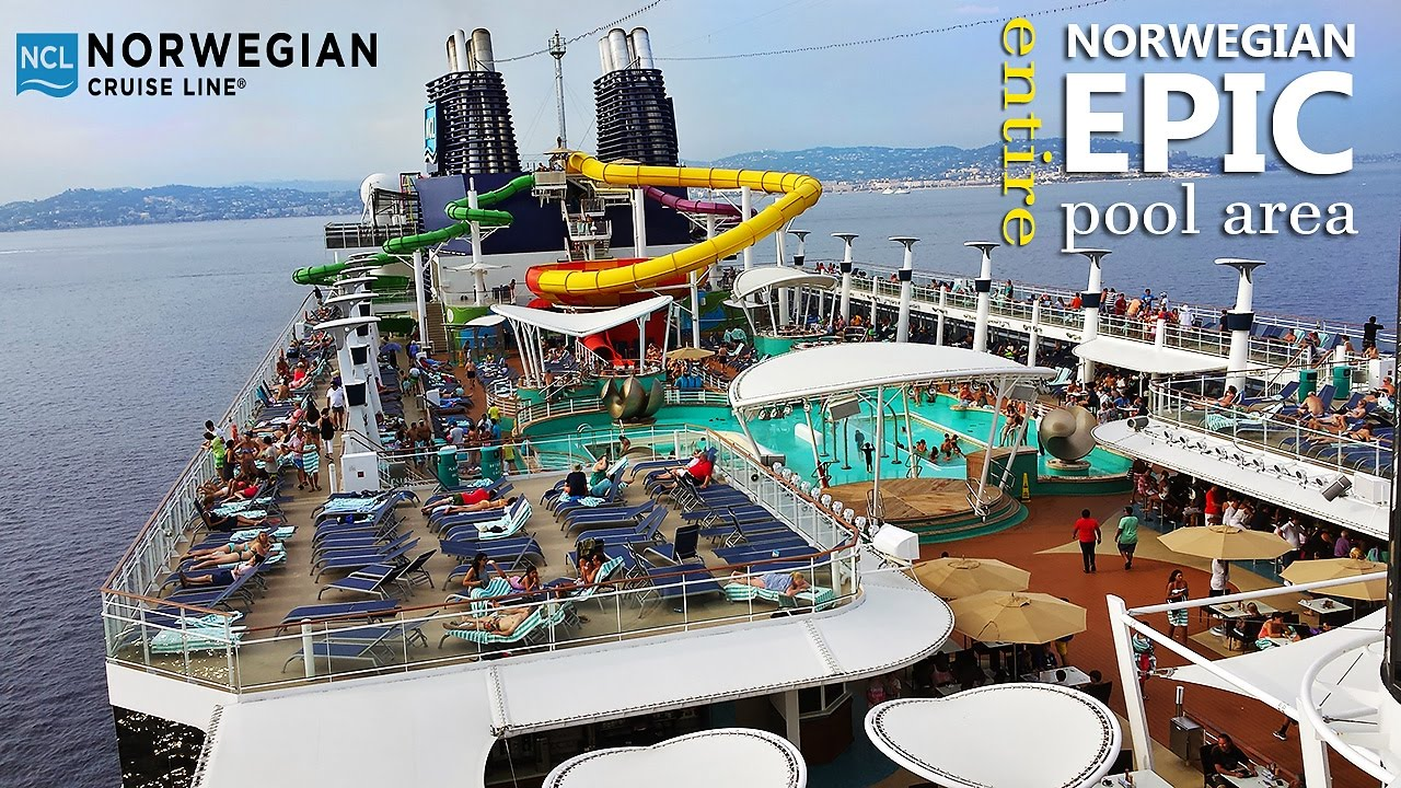 Norwegian Epic Ship Tour Entire Pool Area New Youtube