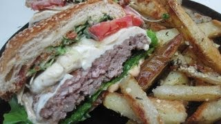 Italian Pork Burgers With Parmesan Thyme French Fries