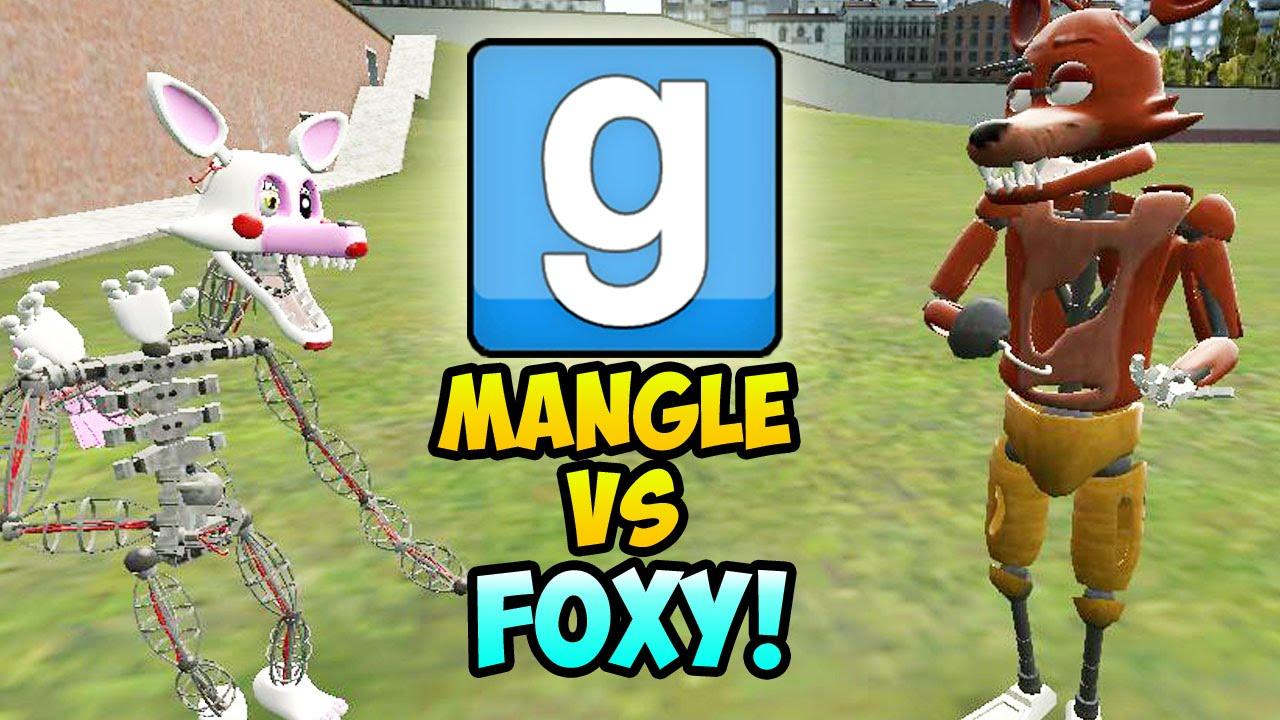 Garrys Mod Mangle Vs Foxy Gmod Npc Battle Gmod Five Nights At