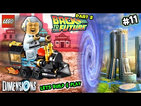 Lets Build \u0026 Play LEGO Dimensions #11: Doc Brown \u0026 Time Traveling Train Go Back 2 The Future FGTEEV
