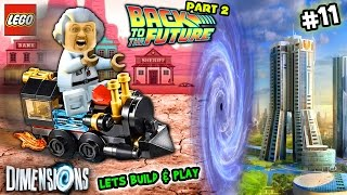 Lets Build & Play LEGO Dimensions #11: Doc Brown & Time Traveling Train go Back 2 the Future FGTEEV - FGTeeV