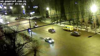 ДТП авария г Волжский пр Ленина ул Молодежная 24 01 2017 19 51