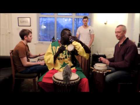Senegalese Independence Day 2013 Rhythm - Talking Drum, Djembe & Sabar