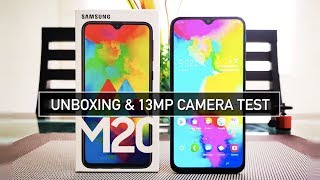 Samsung M20 Unboxing, Infinity-V Display, 13MP Camera Test Review