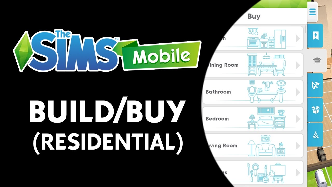 The Sims Mobile Build Buy Mode Residential Youtube