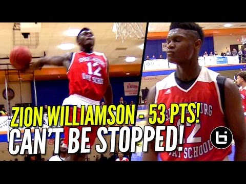 Zion Williamson 53 POINTS In Front of SOLD OUT CROWD at Chick-Fil-A Classic!!