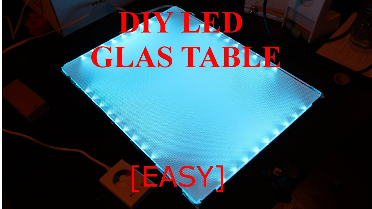 Glastisch Led Do It Yourself Led Glasplatte Table