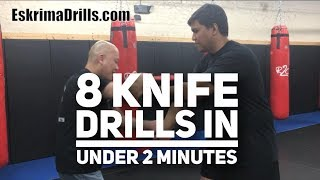 8 Eskrima Kali 8 Knife Drills that you can learn & teach in under 2 minutes