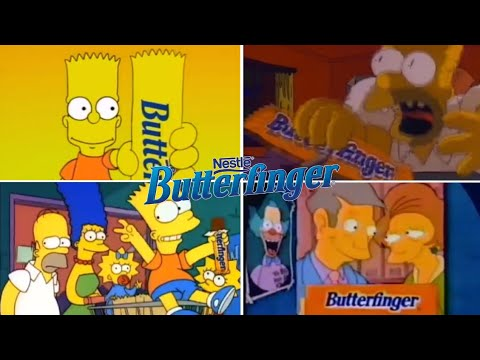 Only The Best The Simpsons Butterfinger Funny TV Classic Commercials 19882001