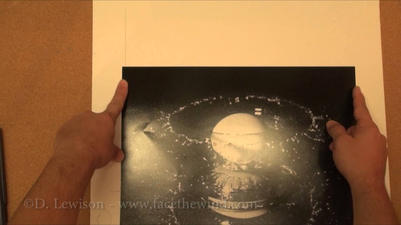 How to Make Your Own Single Mat for Framing Photos - YouTube