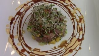 Tuna Tartare With Mango And Cucumber