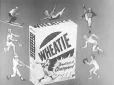 Vintage Old 1950's Wheaties Cereal Commercial with Ralph Kiner