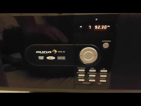 auna MCD-82 Stereoanlage Design Microanlage mit DVD-Player
