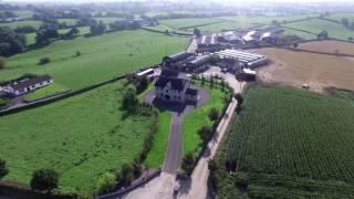 Drone over farm in Ireland