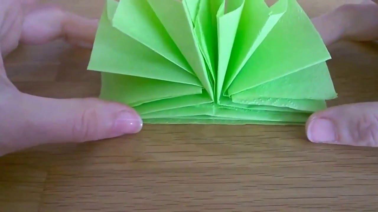 Fare Ventagli Di Carta.Come Piegare Il Tovagliolo Ventaglio 1 Youtube