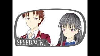 Classroom of the Elite - Ayanokoji and Horikita Speedpaint