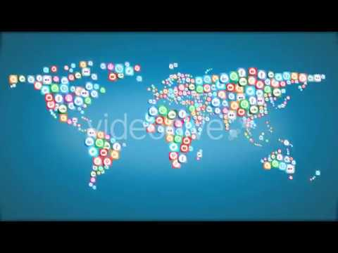 Social media icons world map motion graphics youtube social media icons world map motion graphics gumiabroncs Images